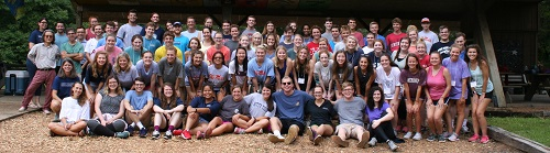 The 2018 Incoming Student Retreat at Camp Hopewell